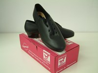 SALE - Jazz Tap Shoe, Black Leather Sizes 3 only