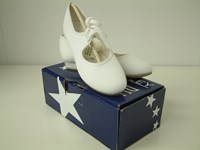 SALE - Roch Valley White Canvas Tap Shoe   Sizes 12 & 12.5 only