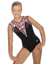 Splash long sleeve leotard with soft V neck 34