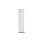 Bisque Tetro 75/118 Vertical Aluminium Radiator in White