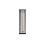 Bisque Tetro 75/118 Vertical Aluminium Radiator with a Marron Finish