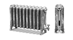 Ribbon 795 2 Column Period Radiator in Primer by Carron Radiators at Jig