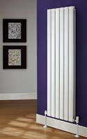 The Radiator Company Tornado Single Designer Vertical Radiator in Colour