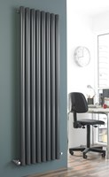 Brolin Vulcan vertical round tube 'Pepperpot' designer radiator similar to Bisque Seta