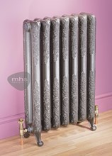 Burlington Traditional Style Period Cast Iron Radiator in primer by MHS Radiators