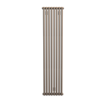 Bisque Tetro 148/178 Vertical Aluminium Radiator with a Champagne Finish