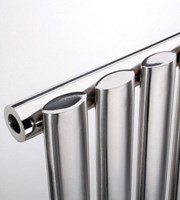 MHS Arc Double Brushed Stainless Steel Designer Radiator by MHS Radiators