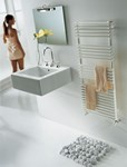 BD 25 Double Towel Radiator in white By The Radiator Company