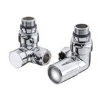 Cheshire Radiators Chrome Bollin Corner Valve