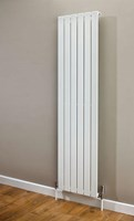 Cheshire Radiators Bretton Single Vertical Flat Tube Steel Radiator in white