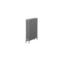 Bisque Classic 4F-75 Horizontal Multi Column Floor Radiator with Aluminium Finish