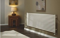 The Radiator Company TRC16 Single Horizontal Tubular Radiator in White