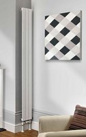 The Radiator Company Water Lily Single Vertical Designer Radiator in White