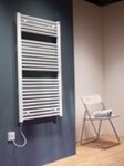Caleido Electric Towel Rail in white By The Radiator Company
