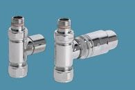 Bisque Straight Thermostatic Valve Set J in Chrome