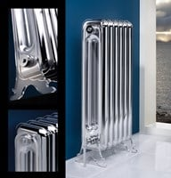 Vintage highly polished classic period style radiator by MhS radiators