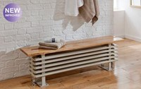 The Radiator Company Ancona Steel Bench Seat in White