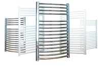 Prorad Straight Towel Rail in Chrome 1172mm H x 600mm W
