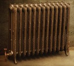 Rococco/Windsor 945 - 2 Column Period Radiator In Antique/Highlighted By Carron Radiators at Jig