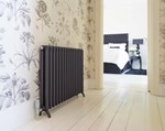 Bisque Tetro Floor Mount Aluminium Radiator with Black Sable Finish