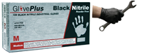 Black Nitrile Rubber Gloves - Box 100 Size Large