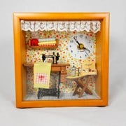 Miniature Dollhouse Kit with Clock
