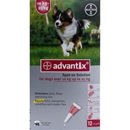 K9 Advantix Dogs 22-55lbs (10-25kg) - 12 Pack