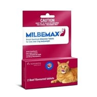 Milbemax Wormer Large Cats 4.4-17lbs (2-8kg) - 2 Tablets