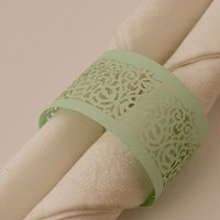 Napkin Ring Victorian Lace - Spearmint Lust.