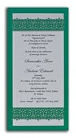 Invitation DL Victorian Lace - Emerald Green Lust