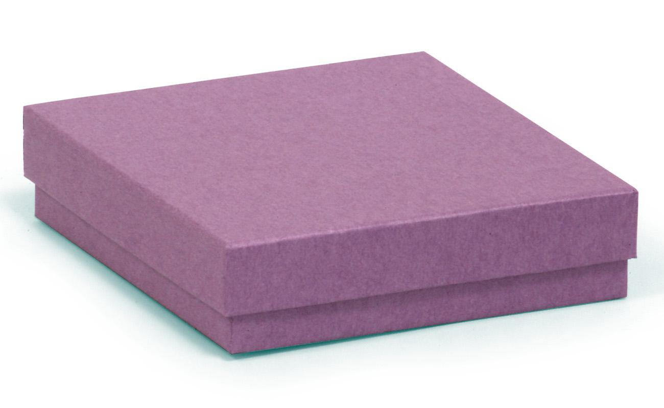 Square kraft recycled purple gift box
