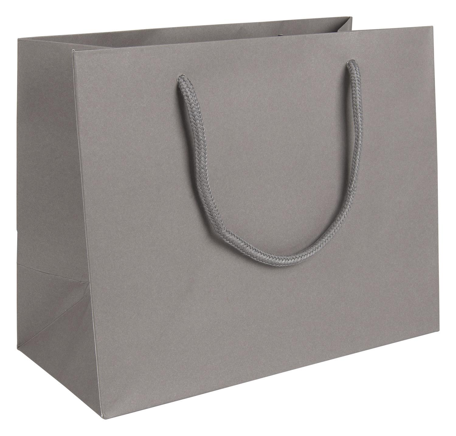 grey paper bags with handles