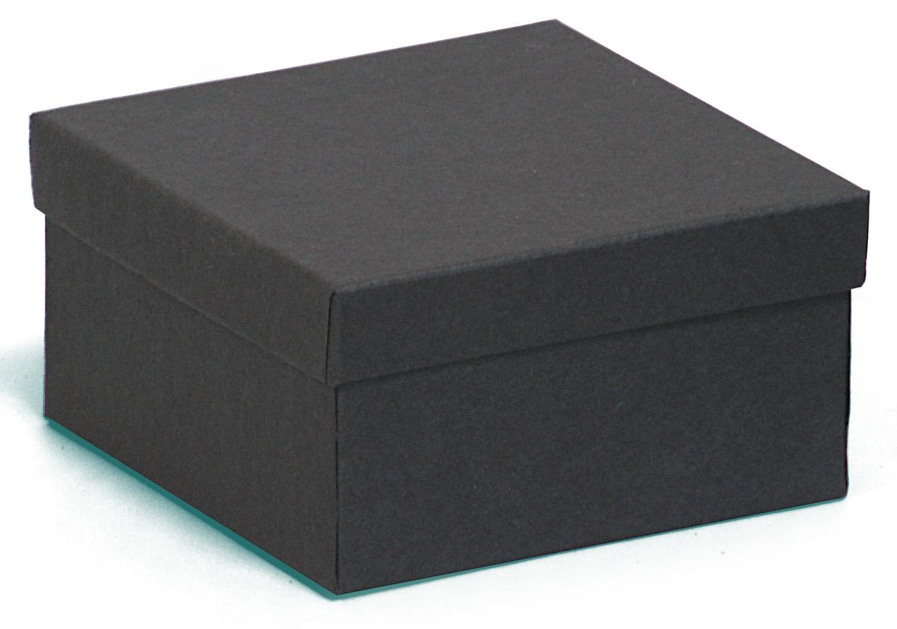 Kraft black jewellery boxes in recycled material