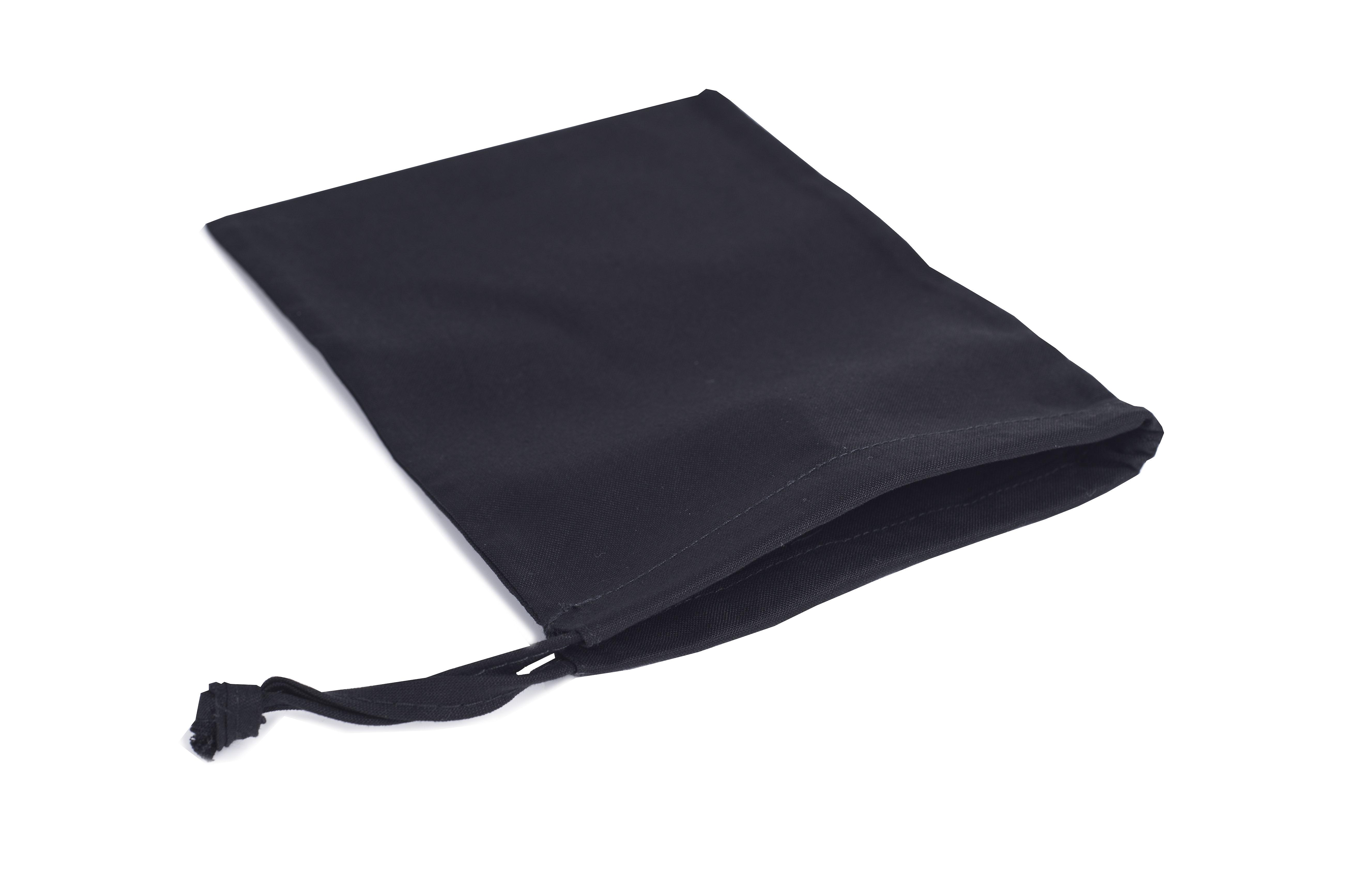 Large Black Drawstring Bag With One Sided Drawstring 200 x 150mm ...