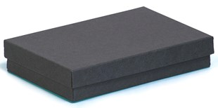 Medium multi purpose kraft black recycled box 138 x 89 x 25mm (KCB14)