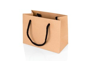 Small Landscape Kraft Paper Gift Bag With Rope Handles 120 x 160 x 80mm (JULKRSM)