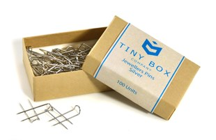 Silver jewellers pins - 100 pack