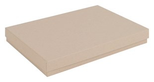 Kraft Natural Large Recycled Gift Box 178 x 128 x 23mm (KR75)