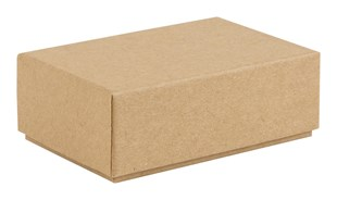 Brown rigid 2 piece postal box 10.5cm x 7cm x 4cm (BL1)