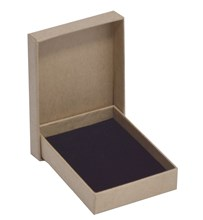 Kraft Thin Earring Box 75 x 55 x 17mm (WPEA2KR)