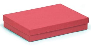 Large kraft red multi purpose recycled box 178 x 128 x 32mm (KCRED80)