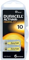 Duracell Activair Mercury Free Hearing Aid Batteries Size 10 (x30 Batteries)