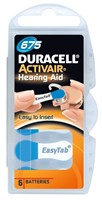 Duracell Activair Mercury Free Hearing Aid Batteries Size 675 (x30 Batteries)