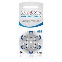 Rayovac Cochlear Implant Pro 675 Batteries X 60 Cells