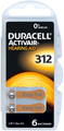 Duracell Activair Mercury Free Hearing Aid Batteries Size 312 (x60 Batteries) - Copy