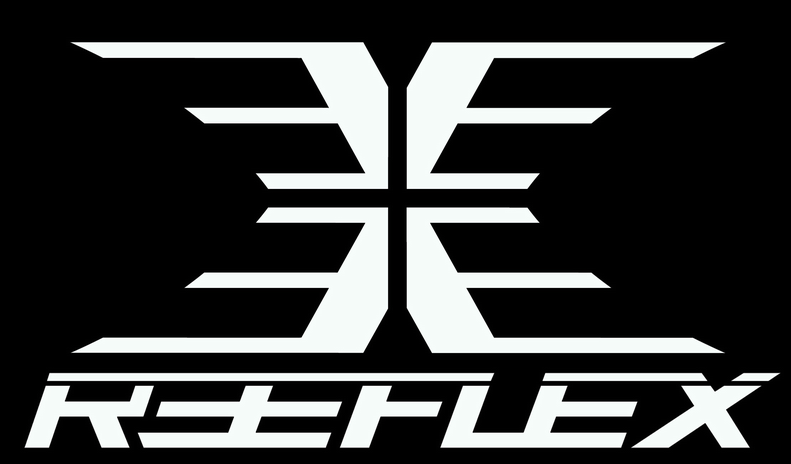 Reeflex wetsuits logo reverse die cut sticker black