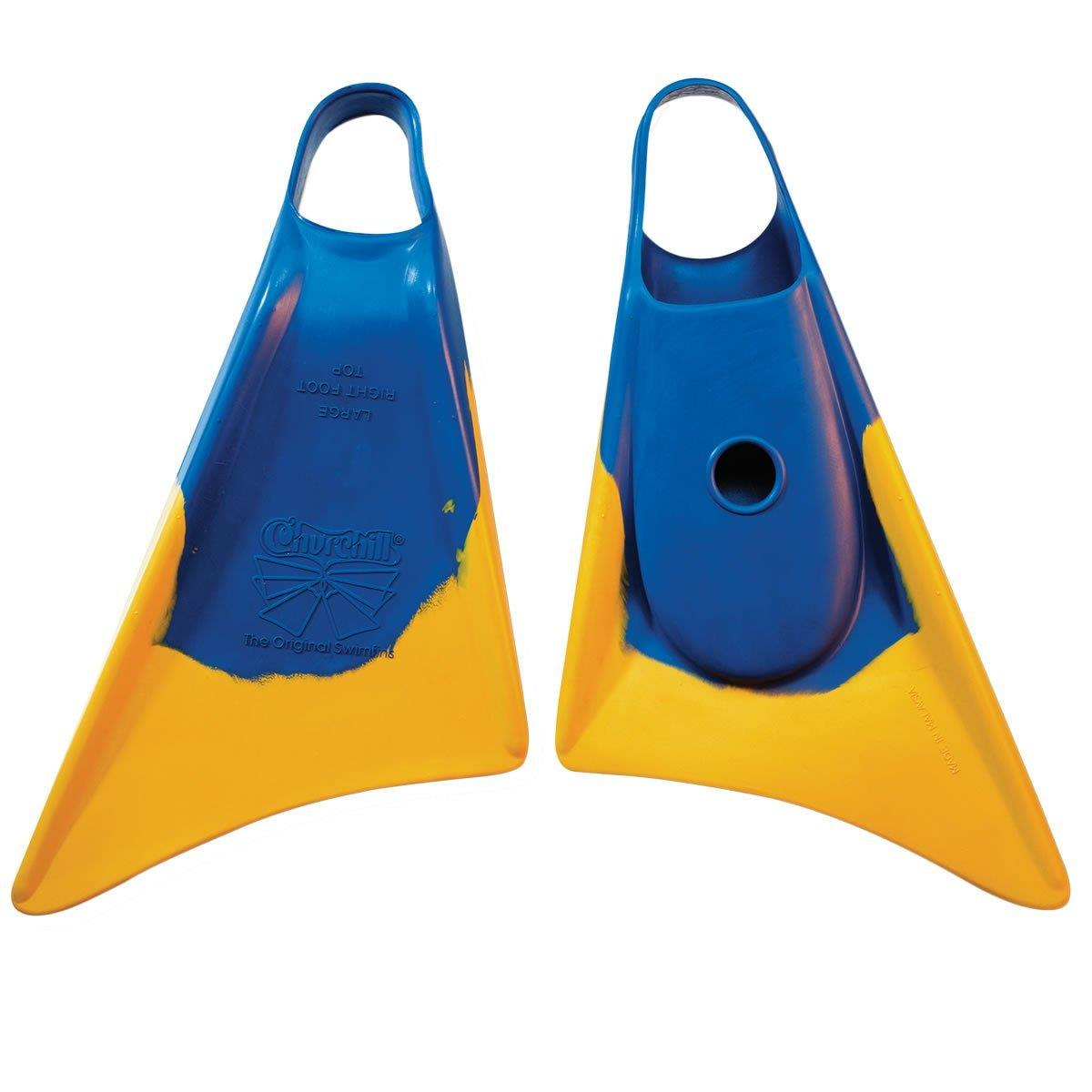 churchill fins blue gold