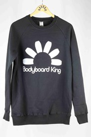 Bodyboard King Logo Crew Neck Limited - Black