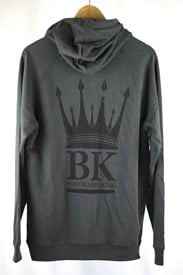 Bodyboard King Crown Zip Up Hoody - Grey