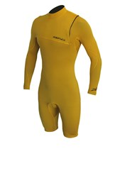 REEFLEX WETSUITS Jerry Gold Ltd 2/2mm Chest Zip 2/2mm Long Sleeve Springsuit - Gold